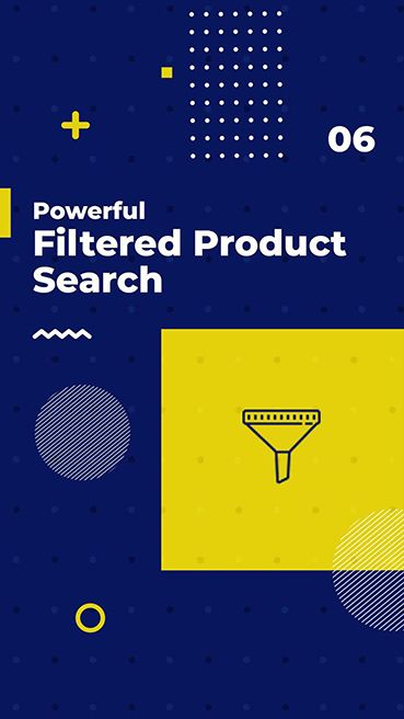 Powerful Filtered Product Search